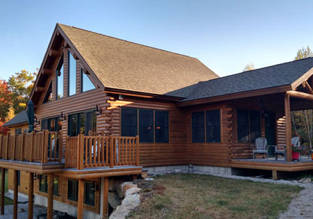 Ward Cedar Log Homes exterior log siding