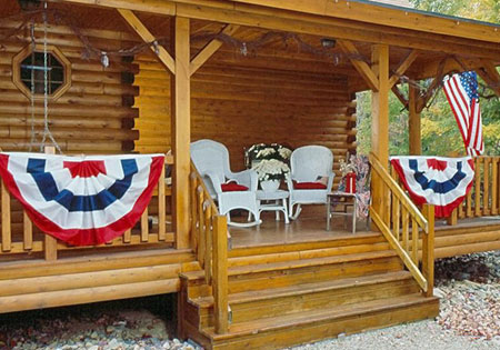 Ward Cedar Log Homes square railing