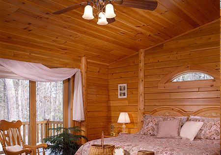 Ward Cedar Log Homes T&G Boards