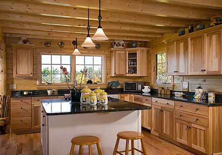 Ward Cedar Log Homes exposed ceiling joist