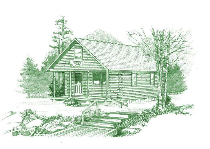 The Baskahegan Is A Well Built, Comfortable, Easy To Care For Log Cabin.