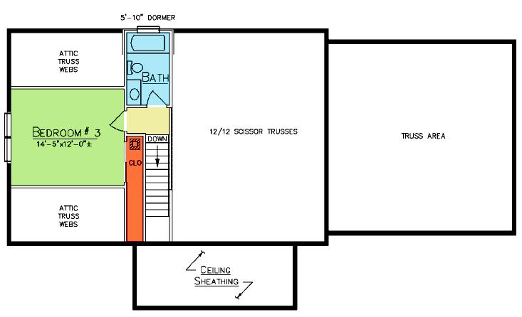 Cedar Falls Loft Plan