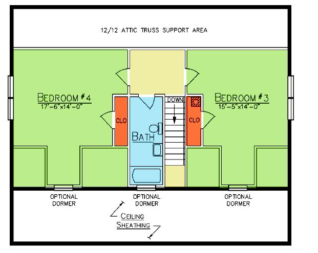 Cedar Lane Loft Plan