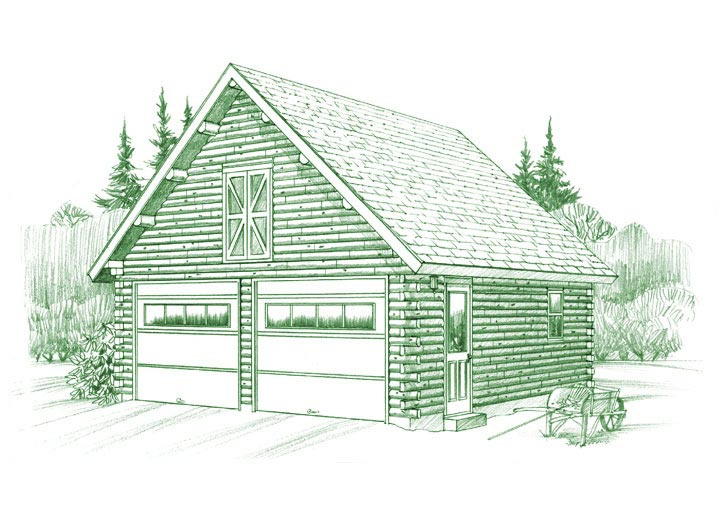 Gable Garage Plan Ward Cedar Log Homes