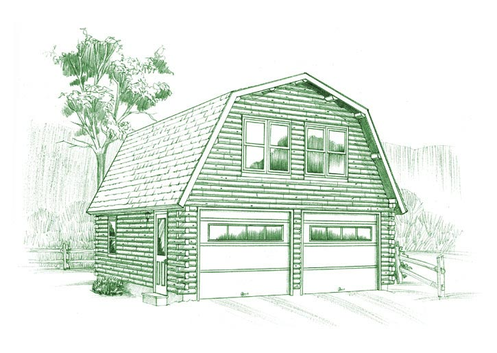 Gambrel Garage