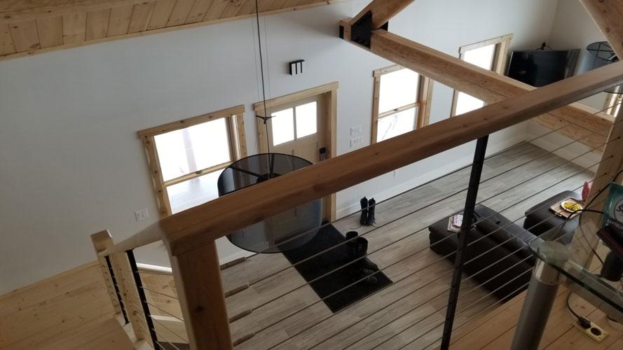 Loft area looking below to open area