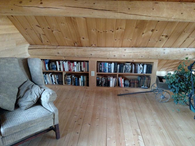 Madison Log Home Loft with storage
