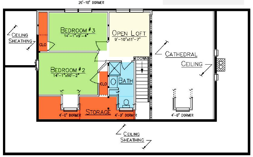 Charleston Loft Plan