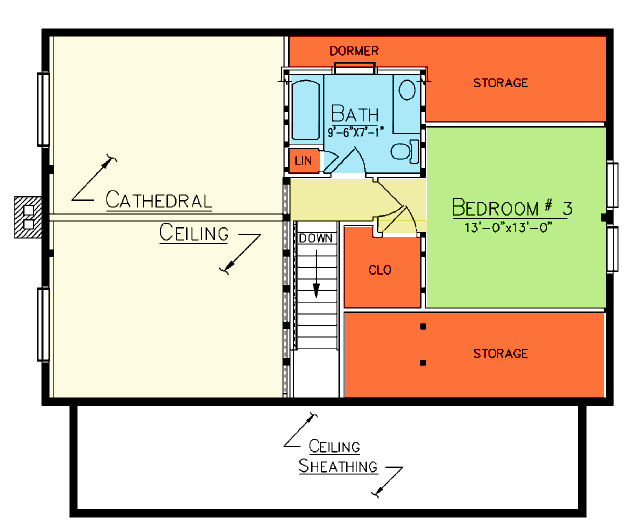 Decatur Loft Plan