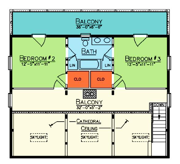 Hickory Loft Plan
