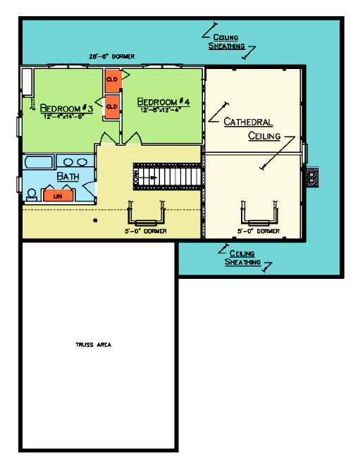 Princeton floor plan ward cedar log homes cabin and for Cedar cabin floor plans