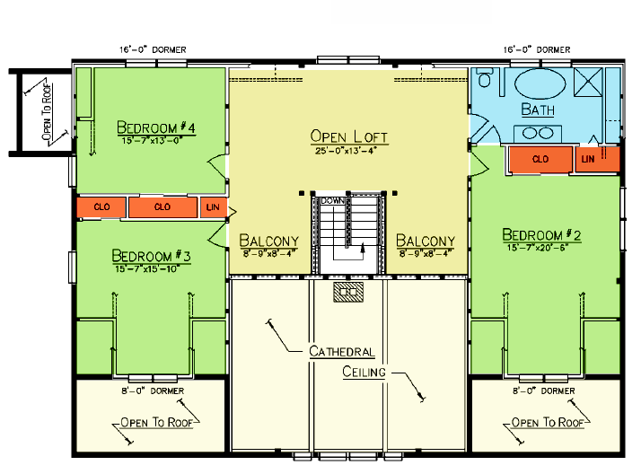Savannah Loft Plan