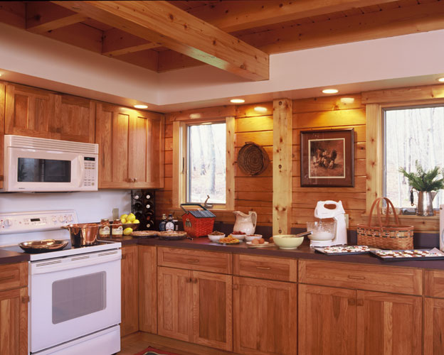 Georgetown log home kitchen