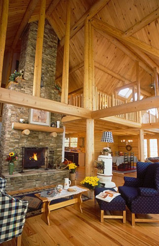 Great Room with large fireplace