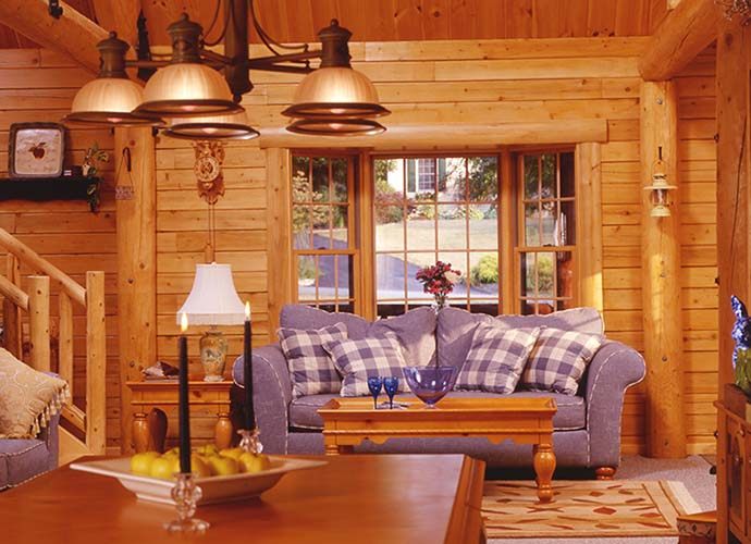 Coopersburg Log Home sitting area
