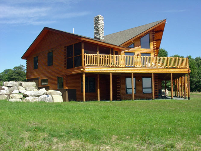 Modified Sedona Log home with raised deck