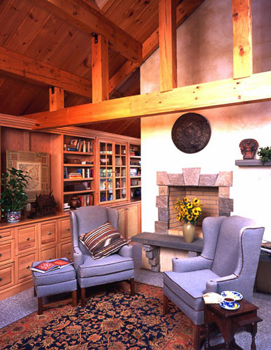 Log Home Hybrid sitting area