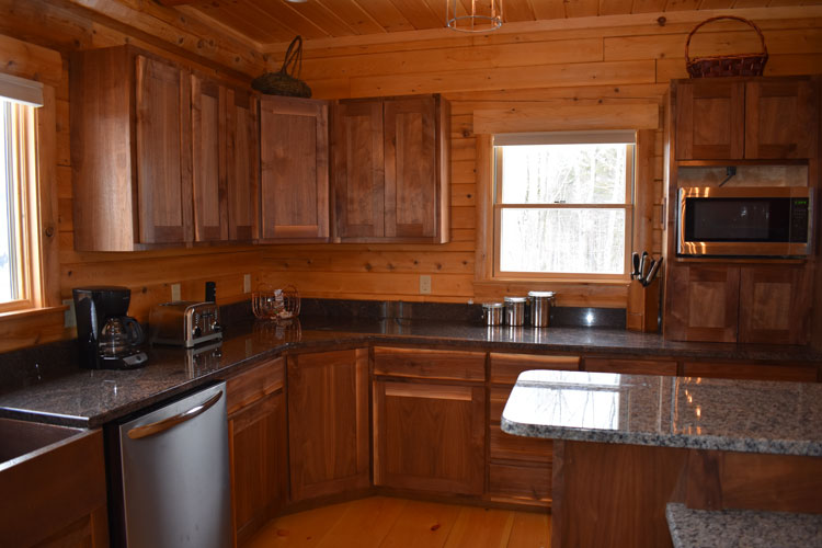 Kitchen of Log Home
