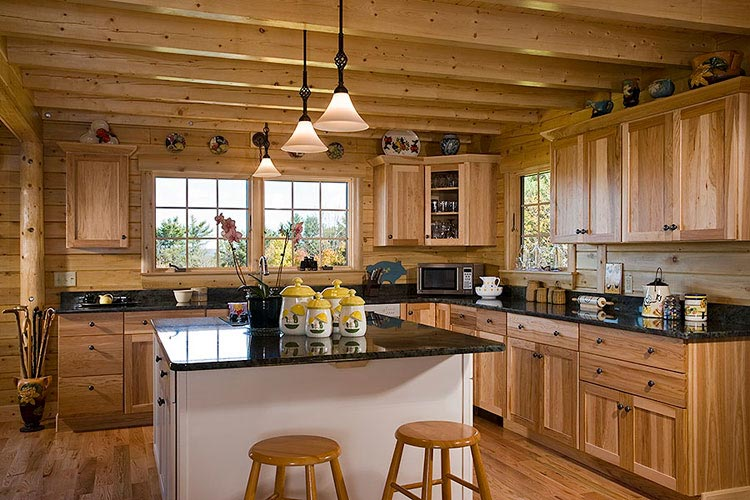 Large log home kitchen