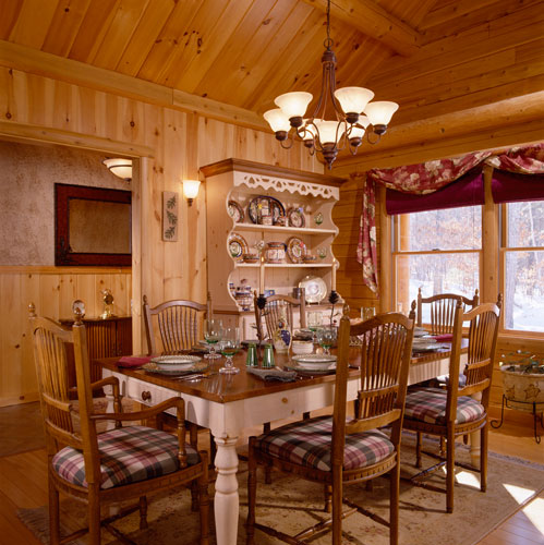 Log Home Kitchen Photos, Dining Rooms