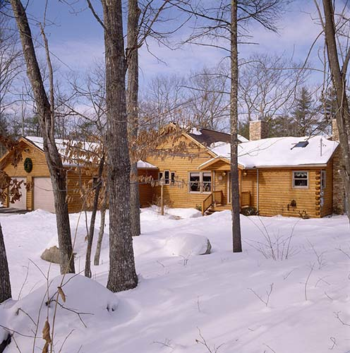 Sebago Lake Log Home Exterior