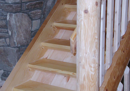 Ward Cedar Log Homes stair components